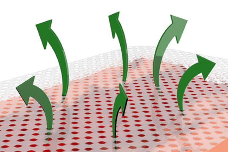 Detailzeichnung CONTACT DUO Lochstruktur und Wirkweise der vertikalen Ableitung des Wundsekret
