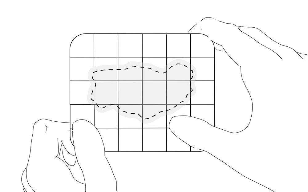 LIQUEEL<sup>®</sup> GD - adaptierbare sanft haftende Wundauflage aus Polyurethanschaum mit Silikonbeschichtung | Anwendungshinweis - Schritt 7