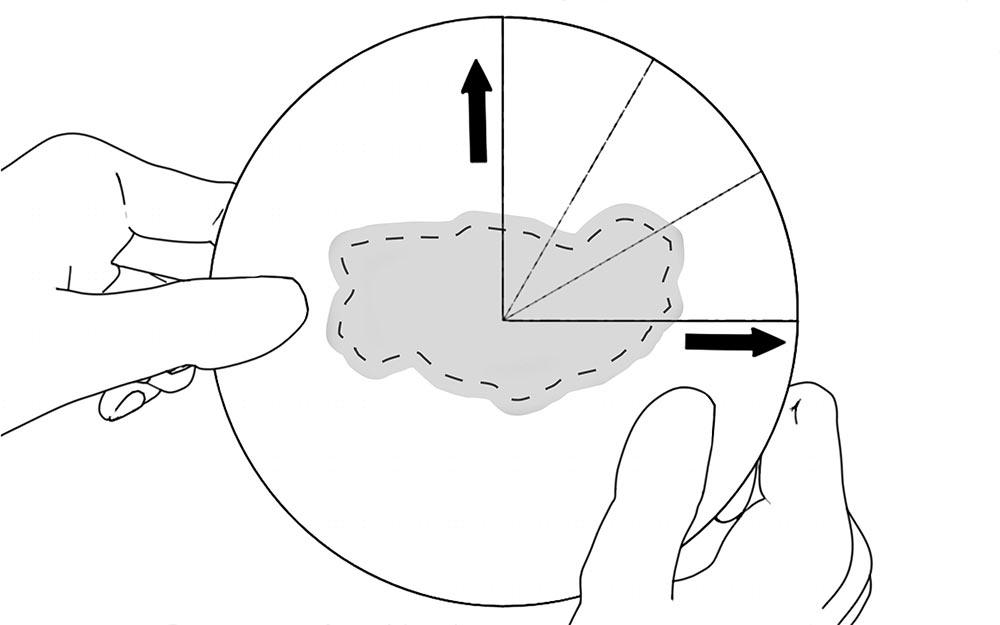 LIQUEEL<sup>®</sup> PT - adaptierbare sanft haftende Wundauflage aus Polyurethanschaum mit Silikonbeschichtung | Anwendungshinweis - Schritt 3