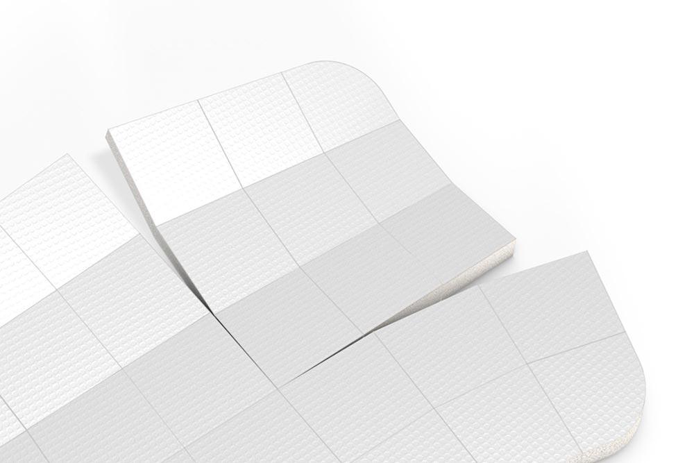 LIQUEEL<sup>®</sup> GD - Detailansicht Perforation und Schaumsegmente